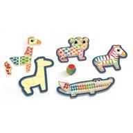 Djeco - Puzzle din lemn Bingonimo