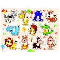 Bino - Puzzle copii din lemn, Safari, 10 piese