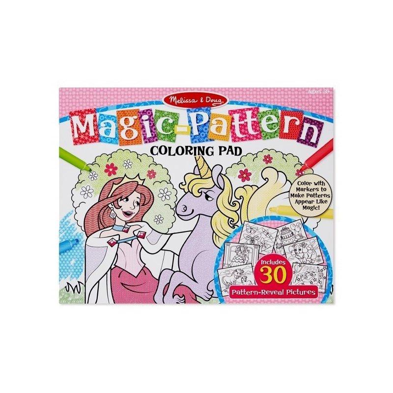 Melissa and Doug bloc de colorat modele magice roz din categoria Pictura si desen de la Melissa & Doug