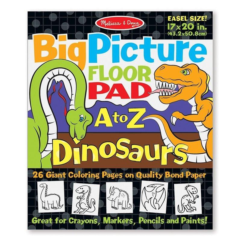 Melissa and Doug bloc gigant de colorat cu litere si dinozauri din categoria Pictura si desen de la Melissa & Doug