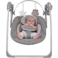 BO Jungle - Leagan portabil Gri pentru bebelusi cu arcada jucarii