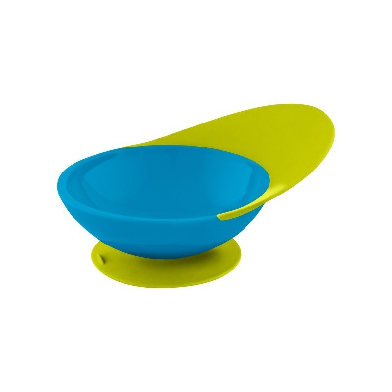 BOON Catch Bowl Castron cu sistem antistropire verde/albastru