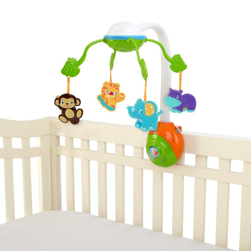 Bright Starts-8352-Carusel Soothing Safari 2 In 1 Mobile