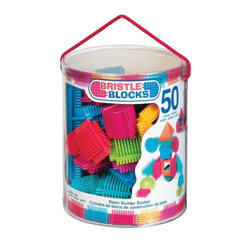 Bristle Blocks Set 50 cuburi de construit din categoria Seturi constructii si cuburi de la Bristle Blocks
