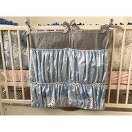 Deseda - Buzunar organizator patut bebe 60x60 cm  Gri - stelute- norisori albastrii