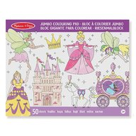 Melissa & Doug - Melissa and Doug caiet jumbo cu desene pentru colorat printese si zane