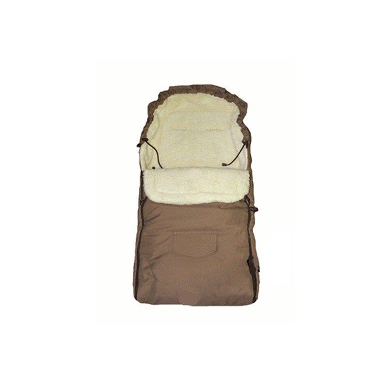 Camicco – Sac de iarna pentru carucior cu interior din lana pentru 0-3 ani maro din categoria Saci de iarna de la Camicco