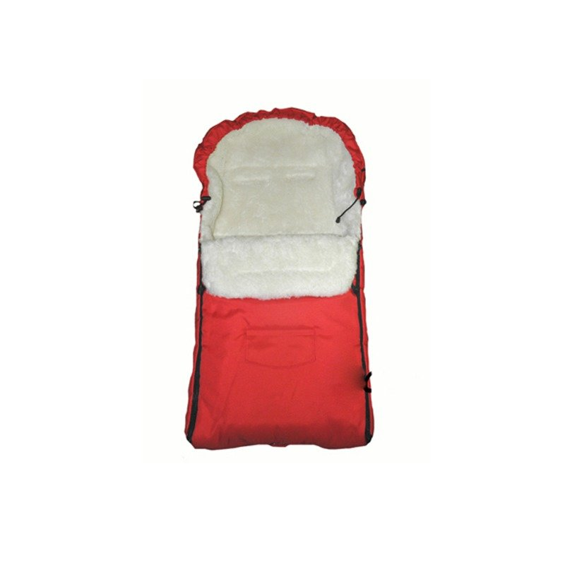 Camicco – Sac de iarna pentru carucior cu interior din lana pentru 0-3 ani rosu din categoria Saci de iarna de la Camicco