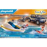 Playmobil - Camion , Family Fun , Cu barca de viteza
