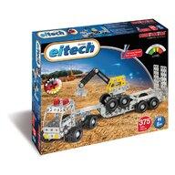 Eitech - Set de constructie Vehicul Camion cu remorca si excavator