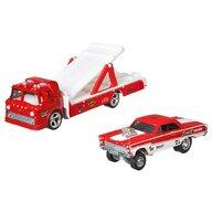 Hot Wheels - Camion Ford C-800 Cu masina Mercury Comet Cyclone 65 by Mattel Car Culture