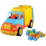 Ucar Toys - Camion pentru gunoi 48 cm cu 38 piese constructie