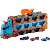 Hot Wheels - Camion Speedway Hauler Cu trailer, Cu 3 masinute, Cu pista de masinute by Mattel