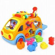 Hola - Jucarie pentru sortat si stivuit Camion Cu sunete, Cu lumini, Cu forme, Multicolor