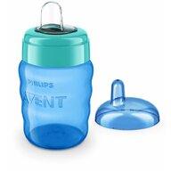 Philips Avent - Cana cu tetina de formare, 260 ml, 9 luni+, Albastru