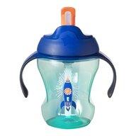 Tommee Tippee - Cana Easy Drink cu pai Explora, 230 ml, 6 luni+, Racheta albastra