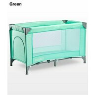 Caretero - Patut pliant cu un nivel Basic, 120x60 cm, Verde