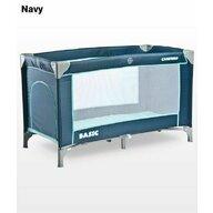 Caretero - Patut pliant cu un nivel Basic, 120x60 cm, Albastru