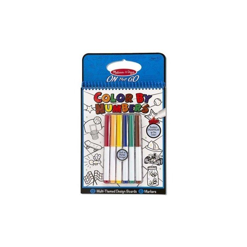 Melissa and Doug carnet de colorat pe numere albastru din categoria Carti de colorat de la Melissa & Doug