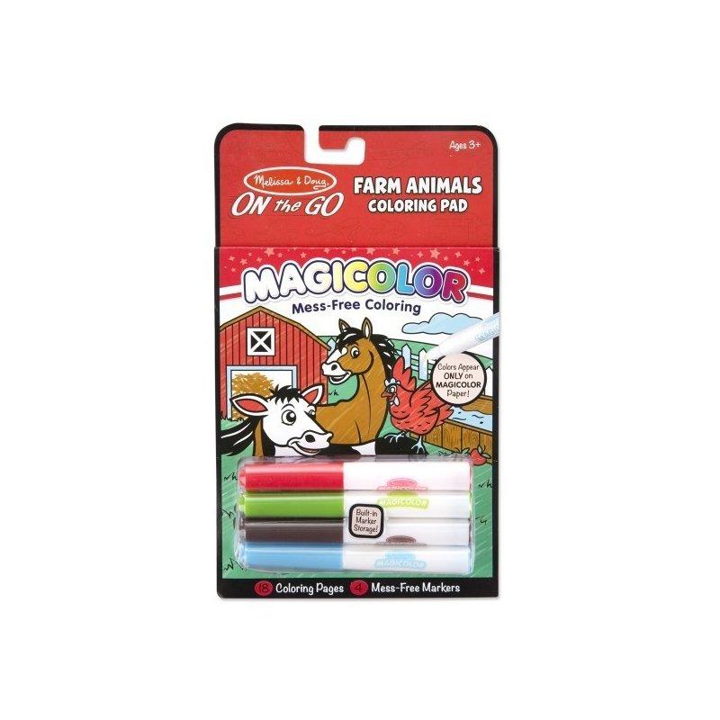 Melissa and Doug carnetel de colorat magicolor animale de la ferma din categoria Carti de colorat de la Melissa & Doug