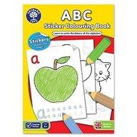 Orchard Toys - Carte de colorat cu activitati in limba engleza si abtibilduri ABC