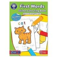 Orchard Toys - Carte de colorat cu activitati in limba engleza si abtibilduri Primele cuvinte First words