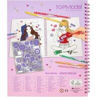 Depesche - Carte de colorat June Cu paiete Top Model