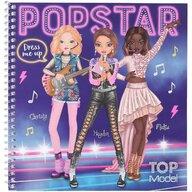 Depesche - Carte de colorat cu stickere Carte de colorat Top Model Make-up Studio  PT11452