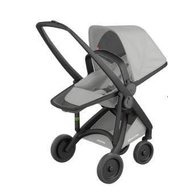 Greentom - Carucior 2 in 1, 100% ecologic, Black Grey