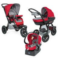 Chicco - Carucior  Trio Activ3, Car Kit, 0+luni, Red Berry