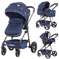Chipolino - Carucior  Noah 2 in 1 blue denim
