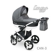 Camarelo - Carucior copii 2 in 1 Carera New Can-3, Gri inchis