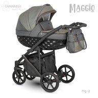 Camarelo - Carucior copii 2 in 1 Maggio Mg-2, Gri inchis/Maro