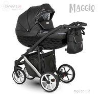 Camarelo - Carucior copii 2 in 1 Maggio MgEco-12, Negru/Alb