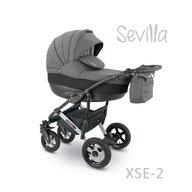 Camarelo - Carucior copii 2 in 1 Sevilla Xse-2, Gri inchis/Negru