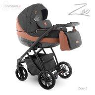 Camarelo - Carucior copii 2 in 1 Zeo zeo-3, Negru/Maro