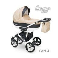 Camarelo - Carucior copii 3 in 1 Carera New Can-4, Bej