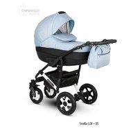 Camarelo - Carucior copii 3 in 1 Sevilla Lux Xsel-5, Albastru
