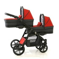 Pj Baby - Carucior gemeni 2 in 1 Tandem Pj Stroller Lux , Red