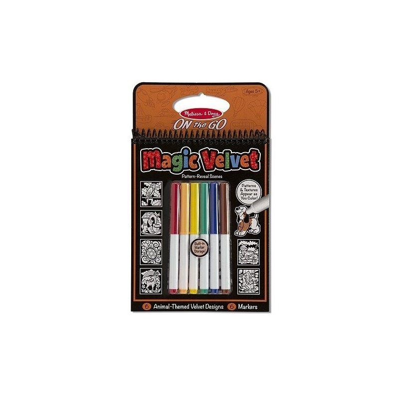 Melissa and Doug catifeaua magica carnet de colorat animale din categoria Carti de colorat de la Melissa & Doug