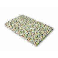 KidsDecor - Cearceaf cu elastic Mozaic Imprimat, Cu patratele din Bumbac, 107x60 cm
