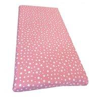 Deseda - Cearsaf cu elastic pe colt 120x60 cm cu imprimeu - Stelute pe roz