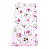 Deseda - Cearsaf cu elastic pe colt cu imprimeu Ursi cu albine pe roz-120*60 cm