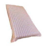 Deseda - Cearsaf cu elastic pe colt cu imprimeu Zig-zag pe bej-120*60 cm