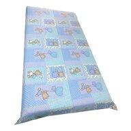 Deseda - Cearsaf cu elastic roata cu imprimeu Ursuleti albastri-140*70 cm