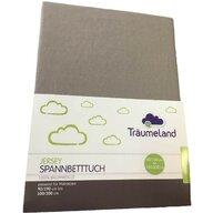 Traeumeland - Cearceaf Jersey Cu elastic, 200x90 cm, Gri