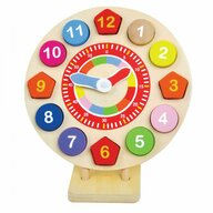 Jumini - Puzzle din lemn Ceas Cu forme si numere, 14 piese