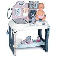 Smoby - Set de joaca Baby Care Center Cu accesorii, Cu papusa, Centru de ingrijire pentru papusi