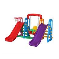 Million Baby - Centru de joaca 4 in 1 Happy Slide, Multicolor