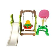 Million Baby - Centru de joaca 4 in 1 Rabit Slide, Multicolor